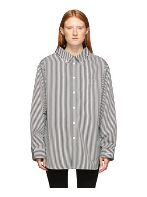 Balenciaga black and white swing collar shirt