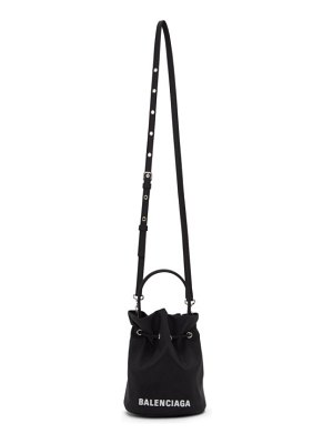 Balenciaga black recycled nylon xs everyday bucket bag