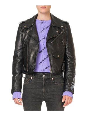 Balenciaga Bull-Leather Biker Jacket