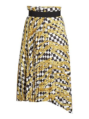 Balenciaga chain print pleated skirt