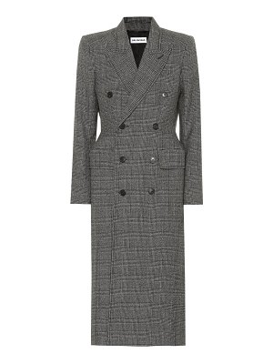 Balenciaga Checked virgin wool coat