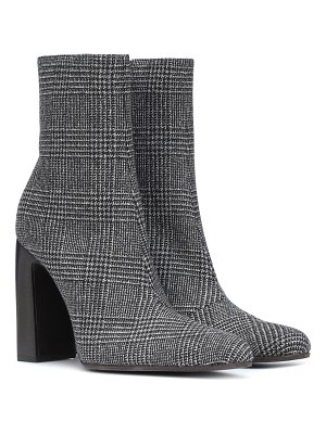 Balenciaga checked wool ankle boots
