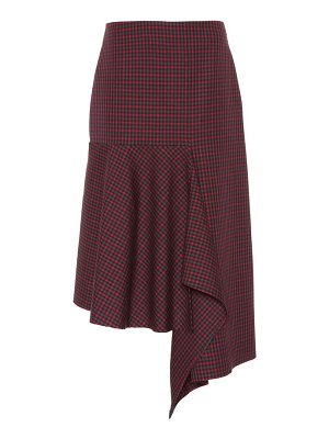 Balenciaga Checked wool midi skirt