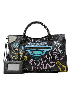 Balenciaga City graffiti handbag