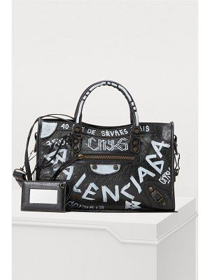 Balenciaga City handbag with graffiti