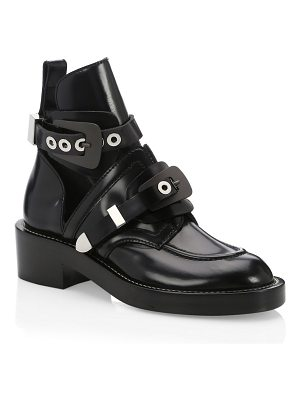 Balenciaga creeper leather buckle combat boots