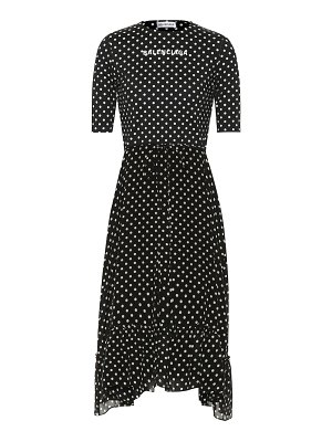 Balenciaga crêpe polka-dot midi dress