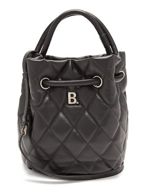 Balenciaga quilted leather bucket bag