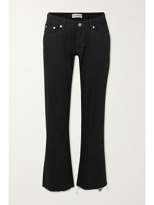 Balenciaga distressed low-rise flared jeans