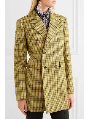 Balenciaga double-breasted houndstooth wool jacket