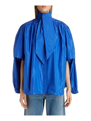 Balenciaga double sleeve silk taffeta blouse