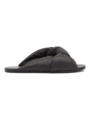 Balenciaga drapy knotted-leather slides