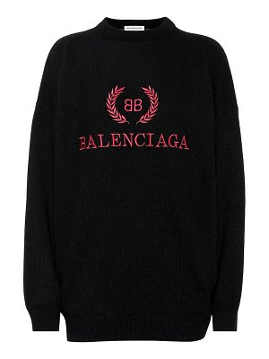Balenciaga embroidered wool-blend sweater