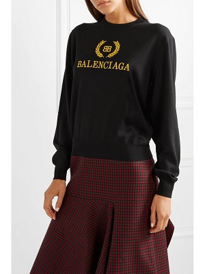 Balenciaga embroidered wool sweater