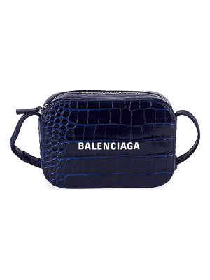 Balenciaga Everyday AJ XS Croco Logo Camera Bag