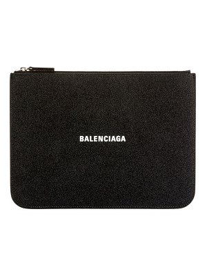 Balenciaga Everyday Glittered Calfskin Medium Clutch Bag