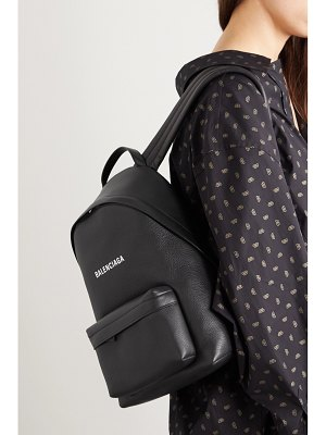 Balenciaga everyday printed textured-leather backpack
