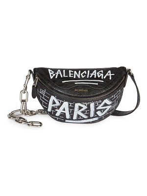 Balenciaga extra extra-small souvenir graffiti belt bag