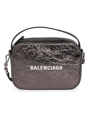 Balenciaga extra-small everyday metallic leather camera bag