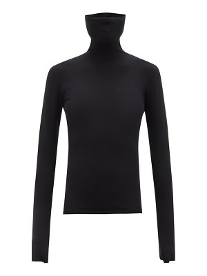 Balenciaga face-covered jersey roll-neck top