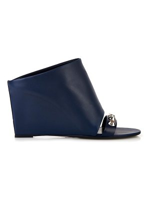 Balenciaga Glove screw-embellished leather wedges
