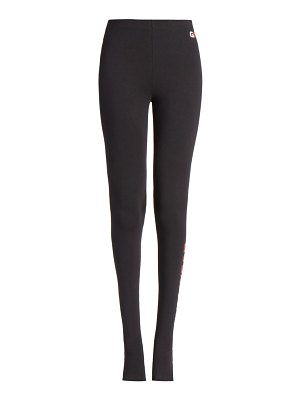 Balenciaga gym wear cut-out footed leggings