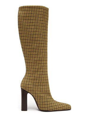 Balenciaga houndstooth check tweed boots