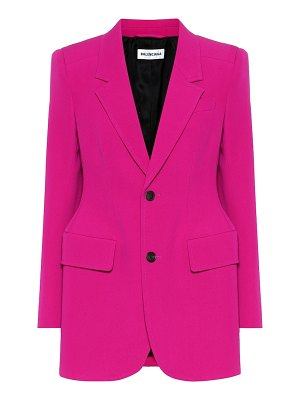 Balenciaga hourglass stretch-wool blazer