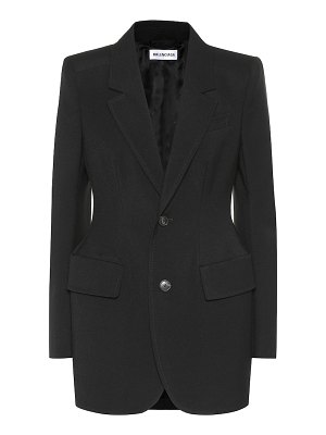 Balenciaga hourglass virgin wool blazer
