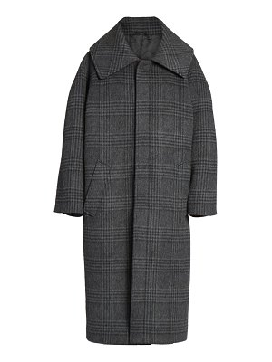 Balenciaga incognito check wool-blend coat