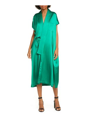 Balenciaga judo satin wrap midi dress