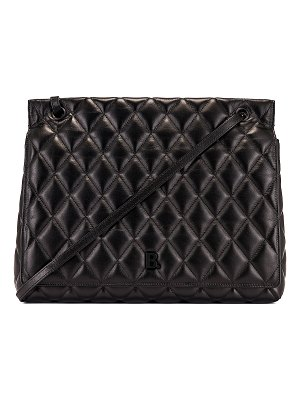 Balenciaga large quilted leather b shoulder bag