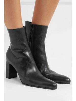 Balenciaga glossed-leather ankle boots
