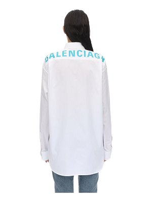 Balenciaga Logo cotton poplin shirt