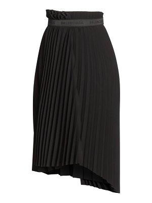 Balenciaga logo elastic pleated skirt