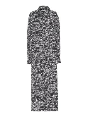 Balenciaga logo maxi dress