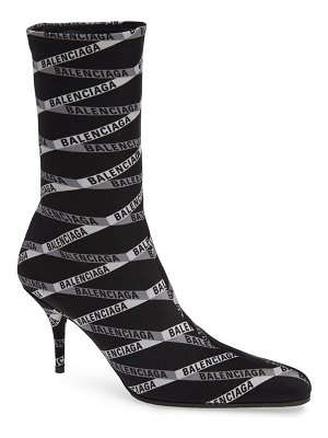 Balenciaga logo sock boot