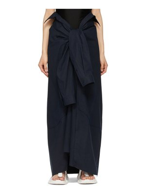 Balenciaga navy convertible tied up skirt