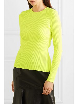 Balenciaga neon ribbed-knit top