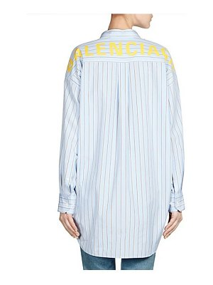 Balenciaga new swing button-down logo blouse