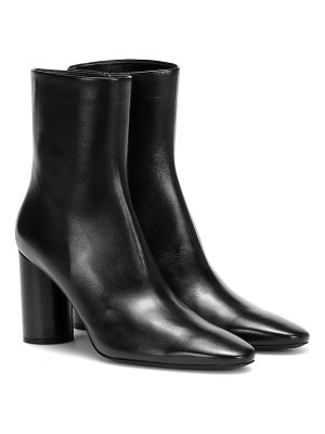 Balenciaga oval leather ankle boots