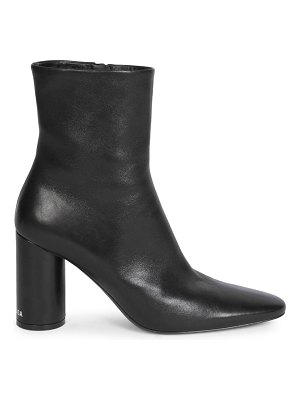 Balenciaga oval block-heel leather ankle boots