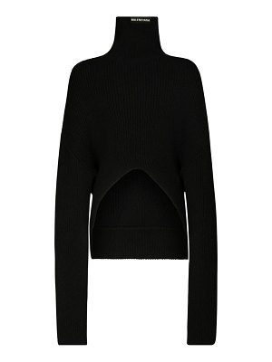 Balenciaga Over knit wool turtleneck sweater