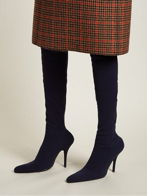 Balenciaga over the knee boots
