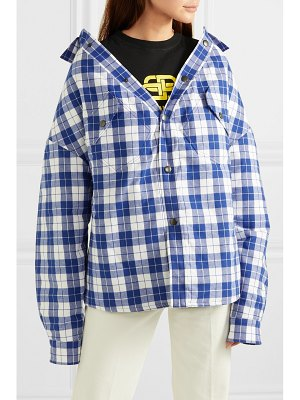Balenciaga oversized checked quilted cotton-flannel shirt