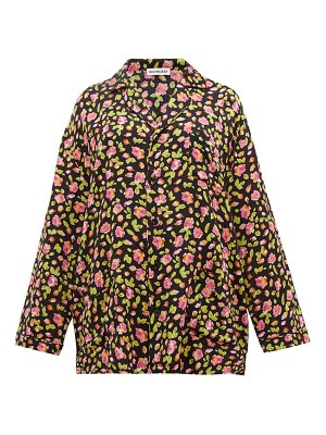 Balenciaga oversized rose jacquard silk shirt