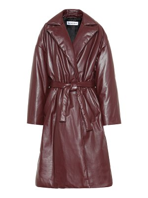 Balenciaga padded leather coat