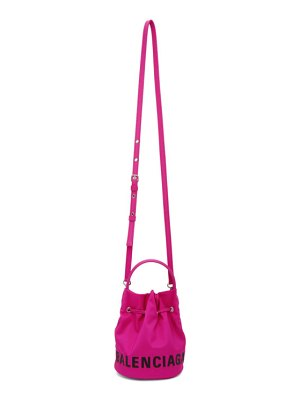 Balenciaga pink xs wheel drawstring bucket bag