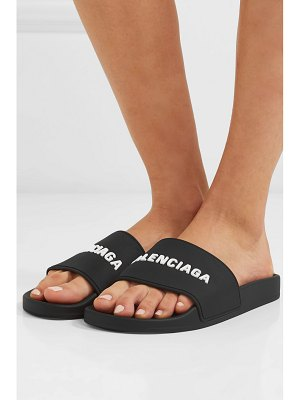 Balenciaga piscine logo-embossed rubber slides