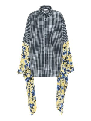 Balenciaga Plaid and floral shirt